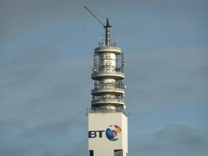 Sadly, with the dismantling of the microwave network, the BT tower is looking very forlorn without it's antenna.