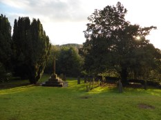 Hints churchyard in the golden hour.