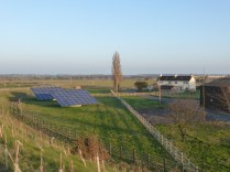 At Fisherwick, these huge solar panels rotate to follow the sun.