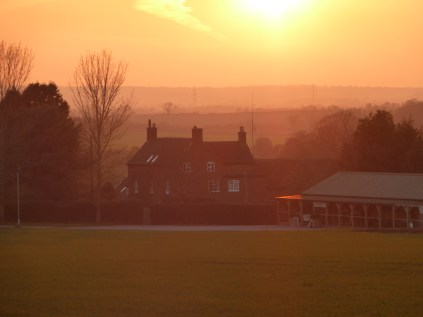 Packington Moor rendered magical by the sunset.