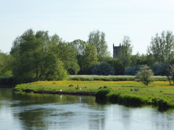 Alrewas Church from the canal.