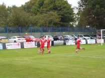 Much rejoicing following the Wood goal... Image kindly supplied by David Evans.