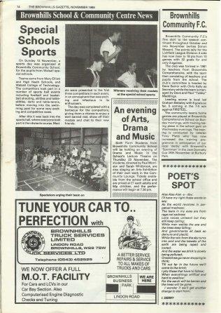 Brownhills Gazette November 1989 issue 2_000014