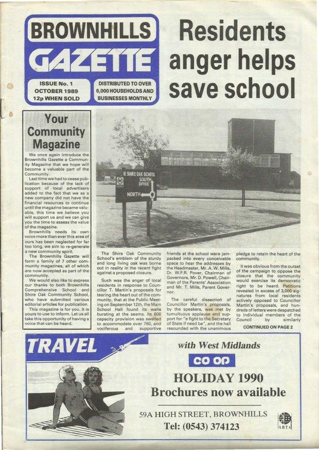 Brownhills Gazette October 1989 issue 1_000001