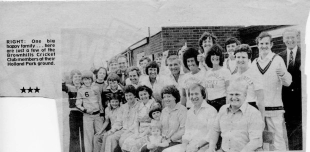 A celebration at Brownhills Cricket Club in 1979. Image very kindly supplied by John Sylvester.