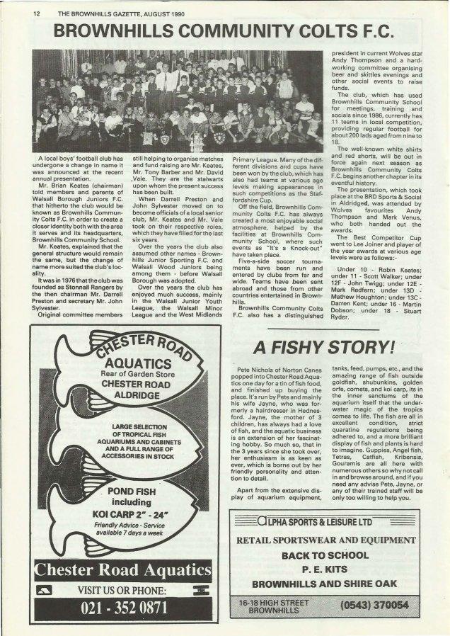 Brownhills Gazette August 1990 issue 11_000012