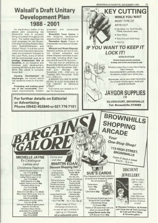 Brownhills Gazette November 1990 issue 14_000013