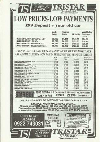 Brownhills Gazette November 1990 issue 14_000024