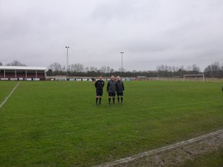 The match officials who were to brave the elements. Image kindly supplied by David Evans. Image kindly supplied by David Evans.