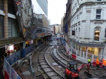 Can't get used to seeing tram tracks in formerly busy streets like Stephenson Place.