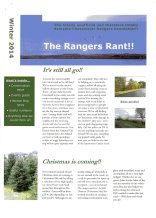 Rangers Rant Winter 2014, page 1