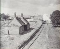 Posted by Si Swain on Facebook who says 'Walsall Wood station in 1957 after closure to passenger services. Taken from Lichfield Road looking towards Brownhills.'