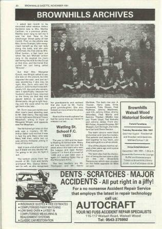 Brownhills Gazette November 1991 issue 26_000020