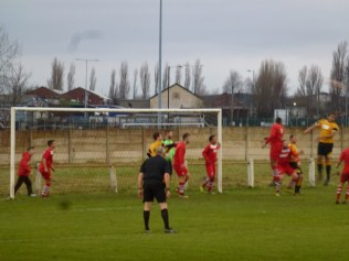The visitors responded well, and took advantage of the sharp wind which dominated and adversely affected some aspects of the game throughout the match.