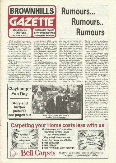 Brownhills Gazette June 1992 issue 33_000001
