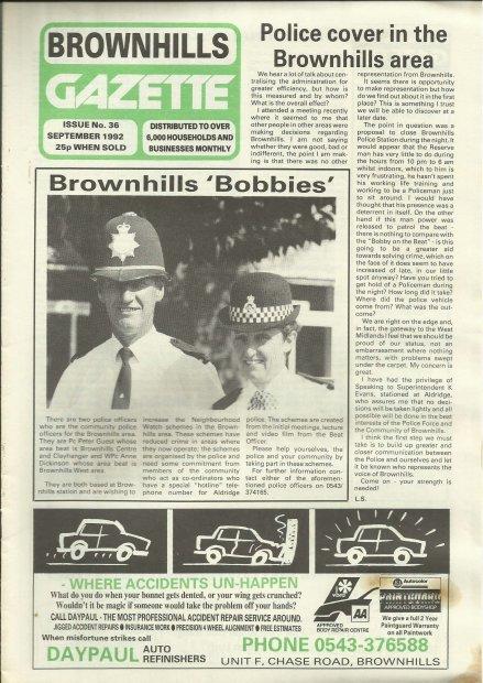 Brownhills Gazette September 1992 issue 36_000001