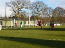 Walsall Wood turning up the pressure in the last quarter of the match to try to get that precious equalising goal.
