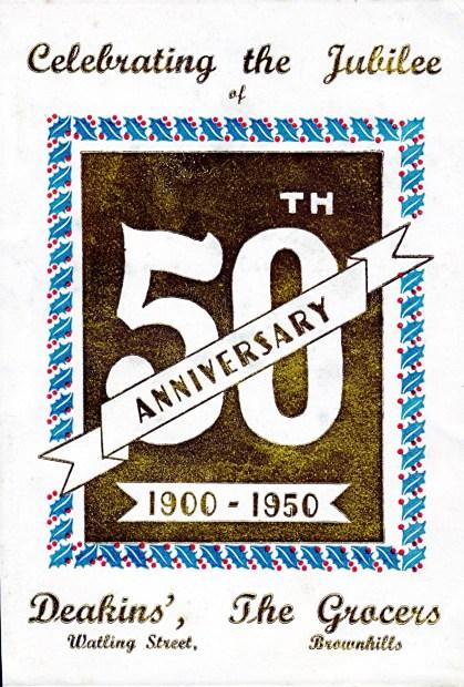 1950 Deakins the Grocers Jubilee brochure