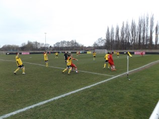 Players were fully committed to bring quality football to this sporting contest