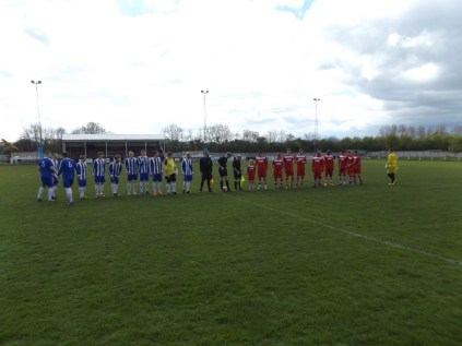 Line up with Heath Hayes in blue and white stripes