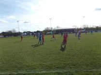 A long-range through ball by Walsall Wood in the second half.