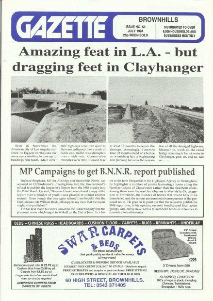 Brownhills Gazette July 1994 issue 58_000001