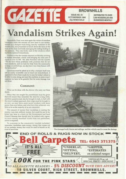 Brownhills Gazette October 1994 issue 61_000001