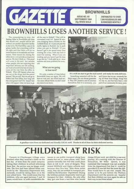 Brownhills Gazette September 1994 issue 60_000001