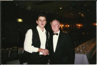 With Ronnie O'Sullivan