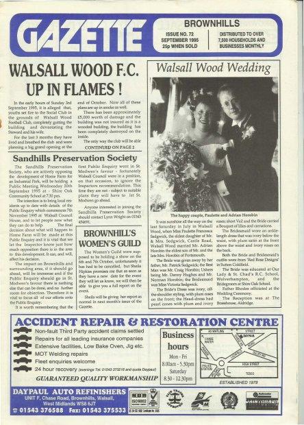 Brownhills Gazette September 1995 issue 72_000001
