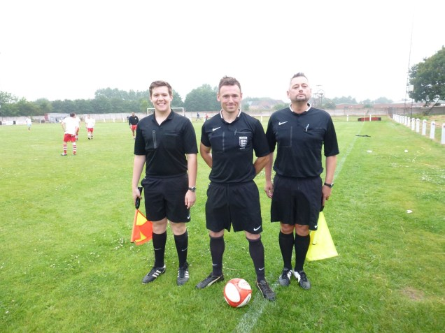 This evening's officials, Messrs Scaithe, Cattell and Owen