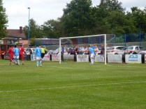 Walsall Wood corner kick
