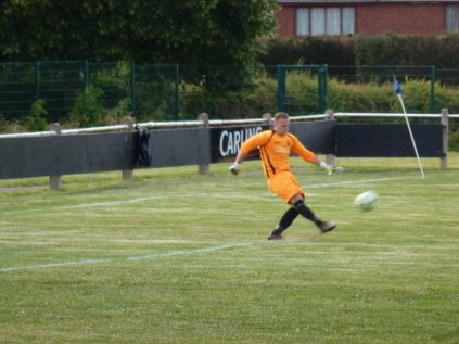 A fine clearance by Lichfield goalkeeper