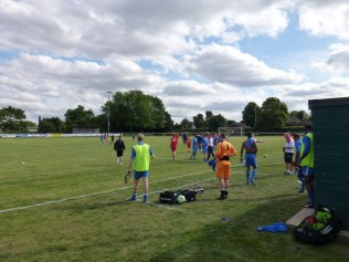 A sporting match, enjoyed by players and WWFC and Lichfield supporters alike