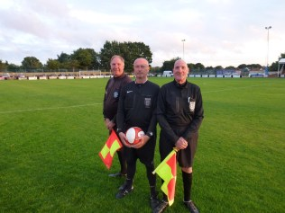 This evening's match officials kindly posed for this pre-match photo