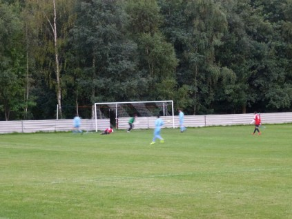 The first goal, a neat breakaway move, to Pelsall