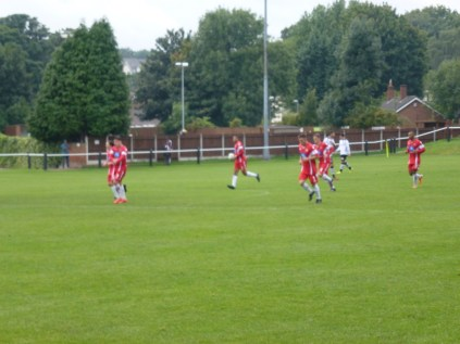 Wood celebrate their second and equalising goal