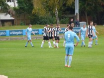 Heanor celebrate their second goal