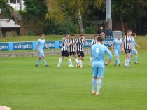 Heanor celebrate their second goal