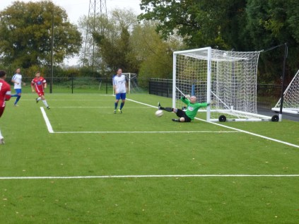 So nearly a goal to the Wood. Well saved, keeper