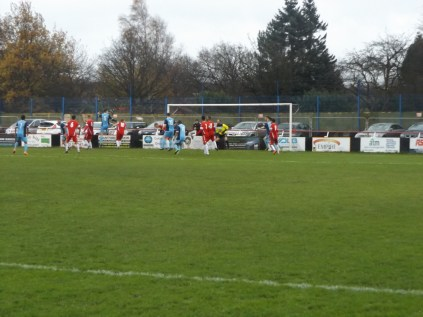 Long Eaton in full flight from a fine corner kick.