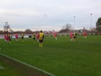 Long kick out by Hollbeach goalkeeper