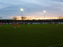 The sun sets but the game's far from over as Hollbeach launch another attack from deep in their half
