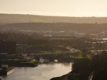 The sun over Bristol is a wonderful sight after such bad weather!
