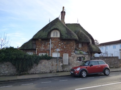 This curious cottage in Westbury on Trym is in the middle of an urban area.