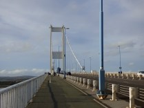 Crossing the bridge is an experience. Terrifically windy, the deck vibrates with the traffic.