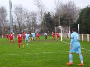 Quorn defend en masse as the Wood try to break through