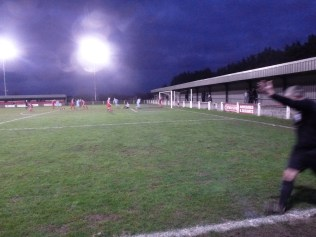 At last the Wood find a way through the blur of red to score the equalising goal in the second half