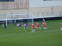 A powerful second-half penalty shot confidently saved by the Wood's excellent goalkeeper.