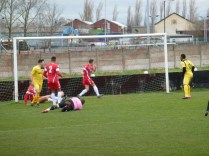 First goal of the match, to Shepshed